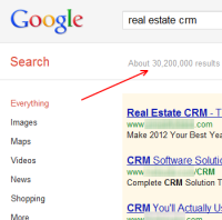 google search for real estate crm