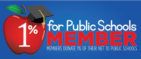 1 percent for schools