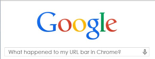 Google Chrome Domain Names No URL