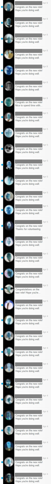 Static Digital Messaging Spam - LinkedIn