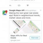 Google Maps Focusing on Real Estate Vertical