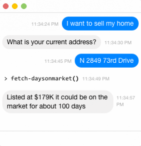 Holmes uses predictive models to answer seller's questions.